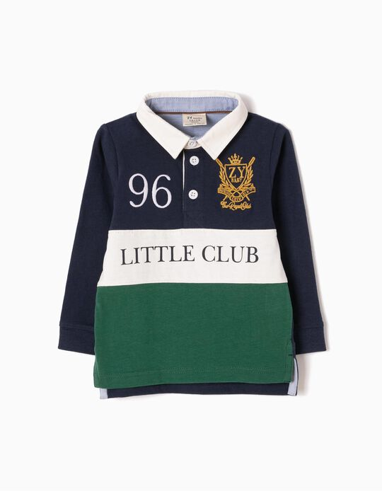 Long-Sleeved Polo Shirt, Little Club