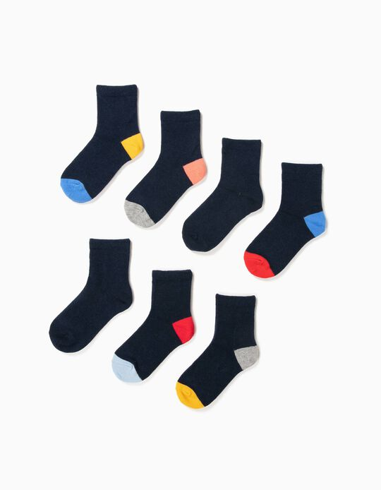 7-Pack Pairs of Socks for Boys, Dark Blue