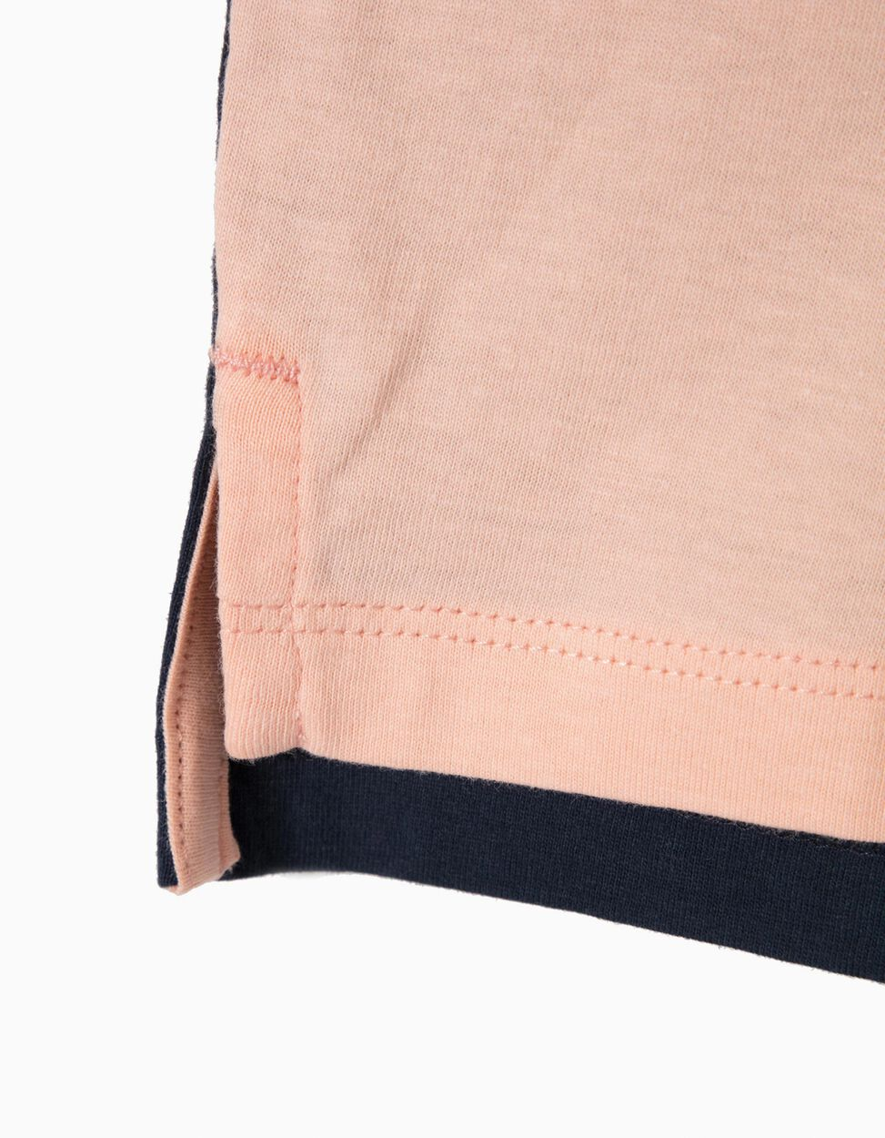 Polo Manga Curta Bicolor