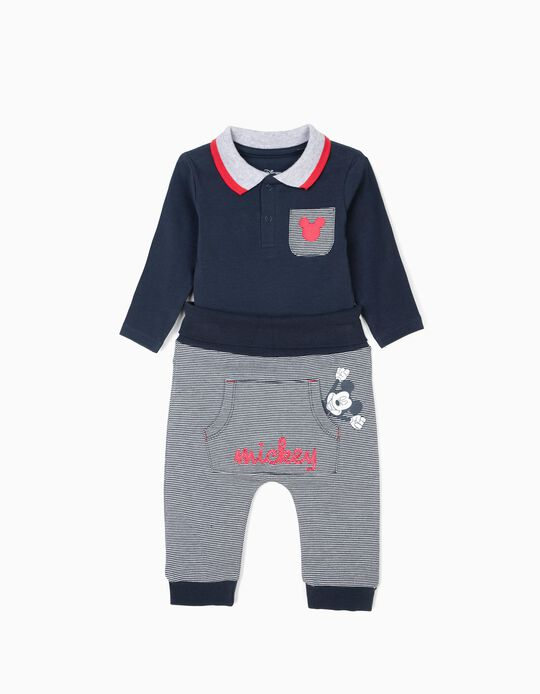Body e Calças para Recém-Nascido 'Mickey', Azul