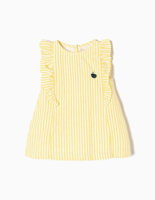 Conjunto Vestido e Calções Amarelo