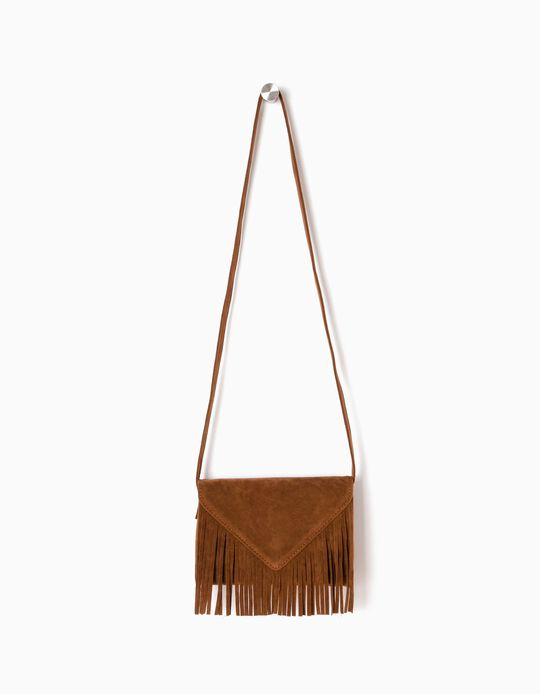 Envelope Crossbody Bag, with Fringes