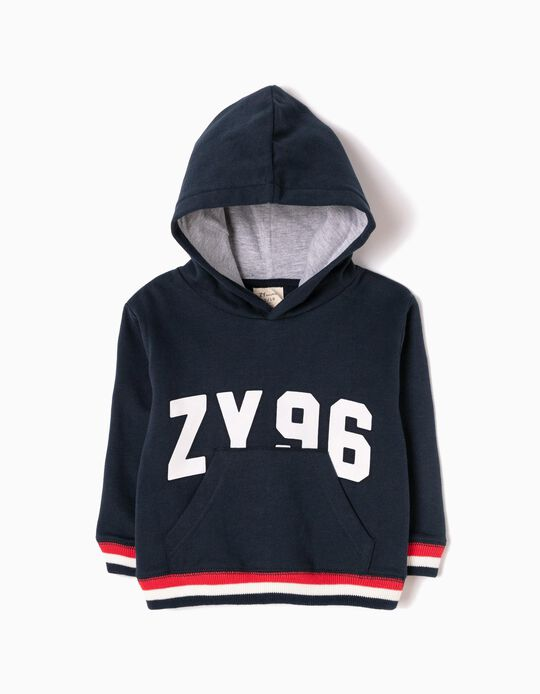Blue Hooded Sweatshirt, ZY 96