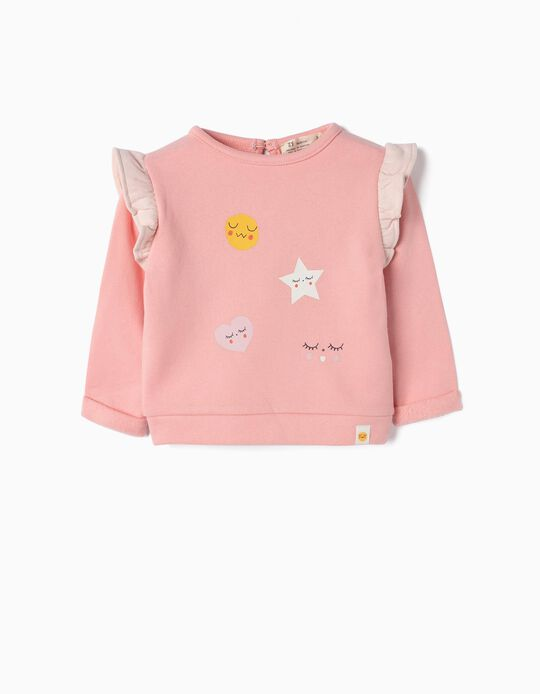 Sweatshirt for Newborn Girls 'Sweet Dreams', Pink