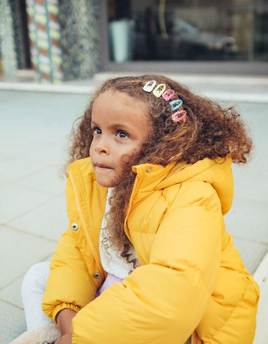Yellow Puffer Jacket with Hood