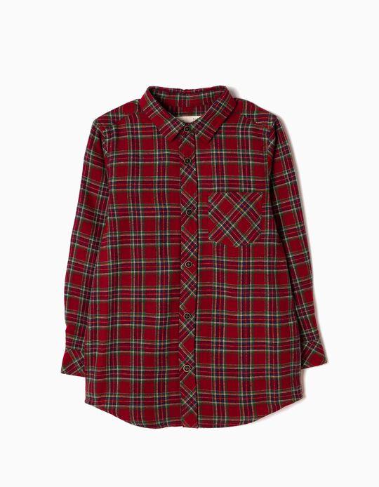 Camisa Flanela Xadrez Vermelha