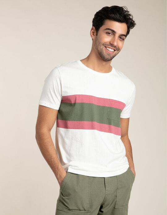 T-shirt with blocks of colour