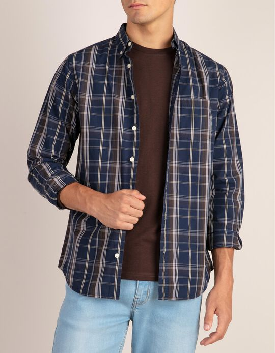 Casual, regular fit tartan shirt