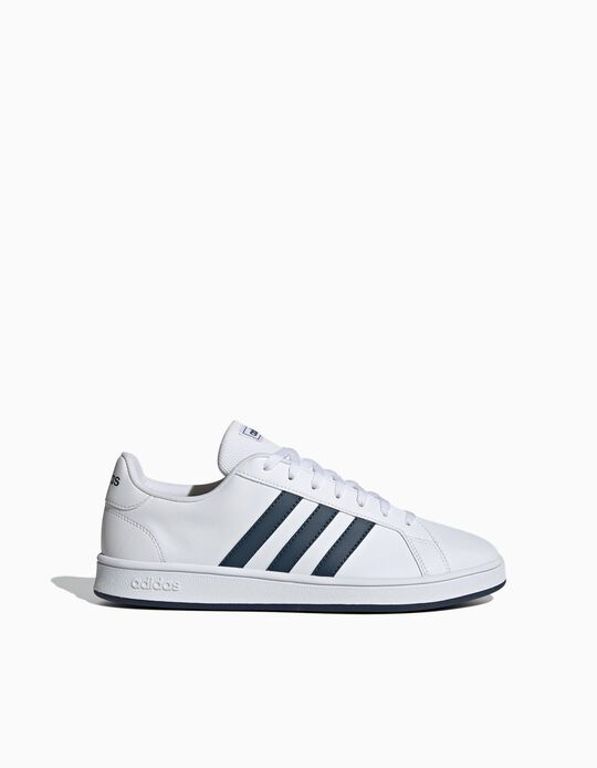 Adidas Grand Court Trainers, Men, White