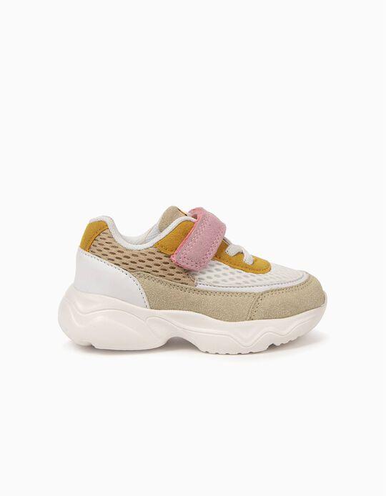 Sapatilhas para Bebé Menina 'ZY Yellow', Branco