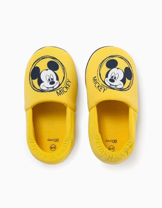 Slippers for Boys, 'Mickey', Yellow
