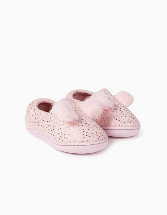 Dotted Slippers for Girls