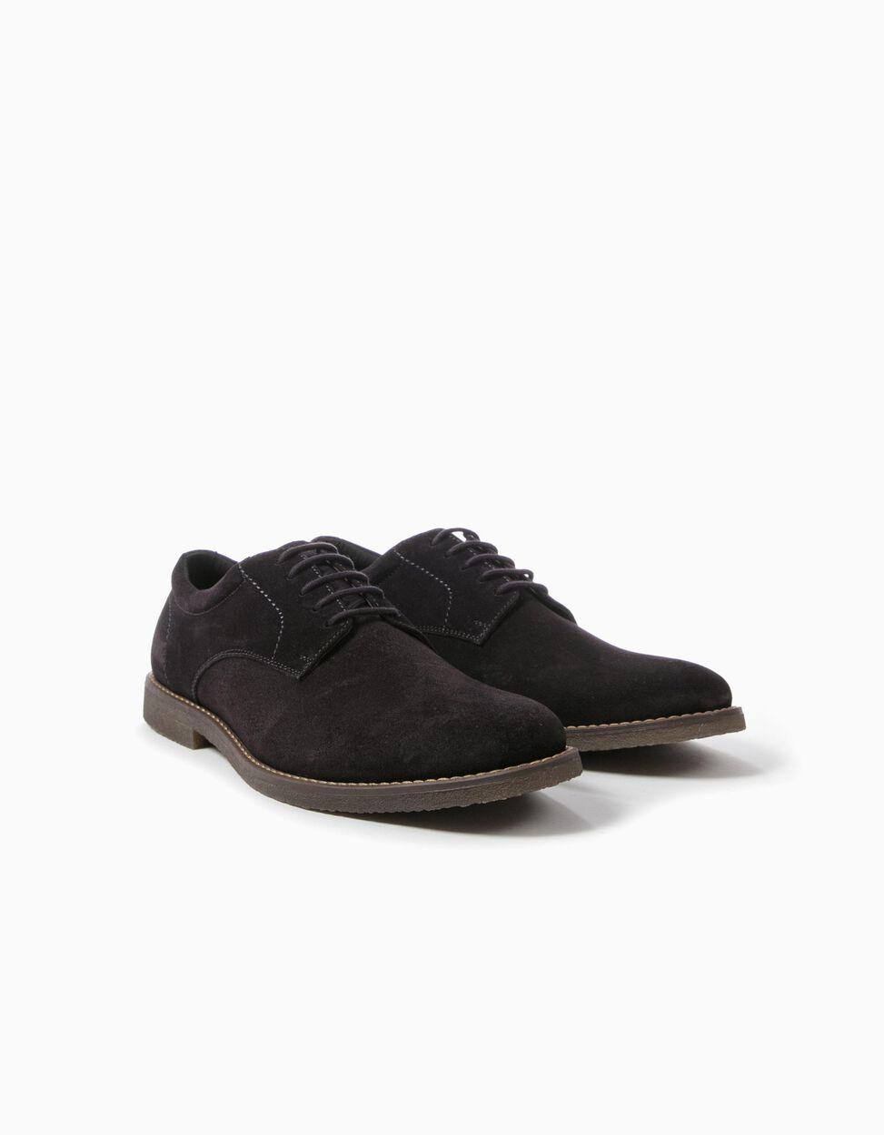 Sapatos Oxford Camurça