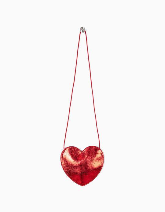Bolsa a Tiracolo para Menina 'Heart', Vermelho