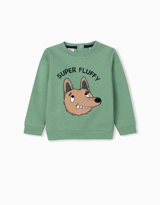 Super Fluffy' Sweatshirt, Girls, Green