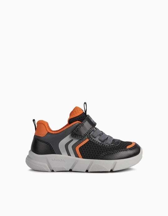 GEOX Trainers, Kids, Black/ Orange