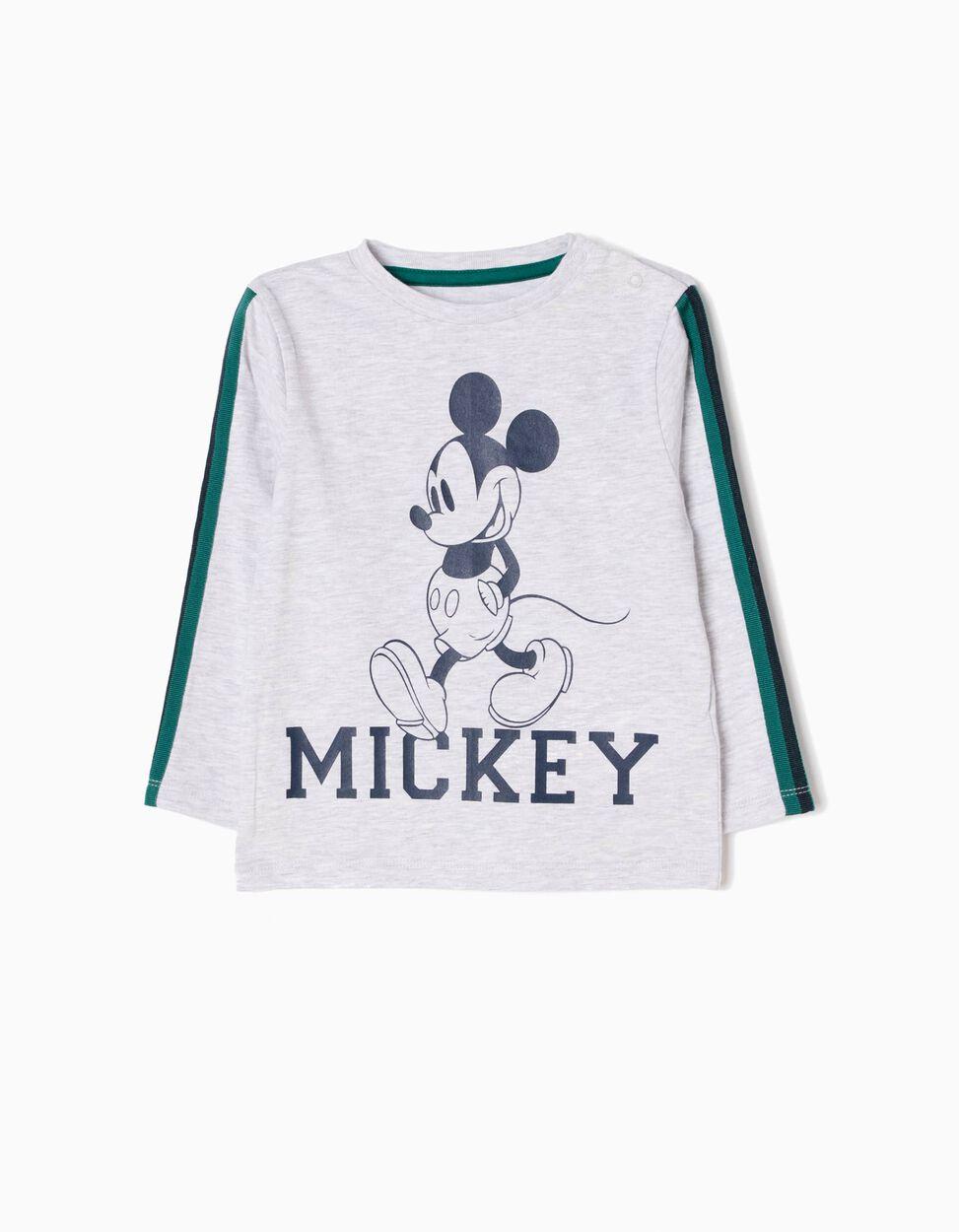 T-shirt Manga Comprida Mickey Cinzenta