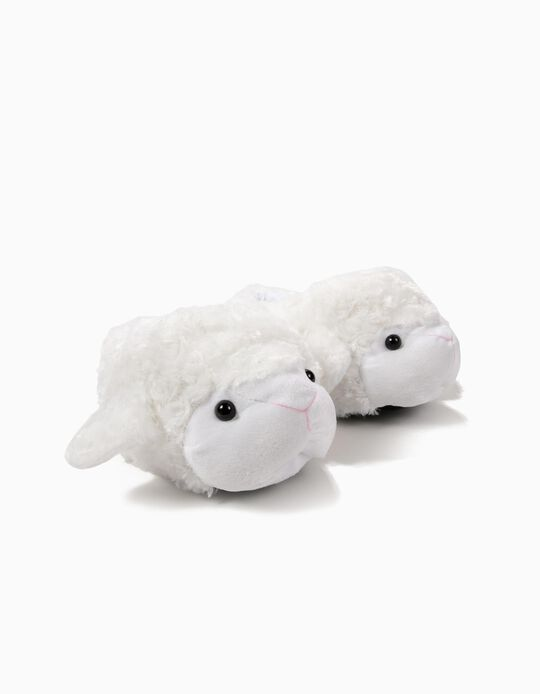 Pantufa carneiro branco