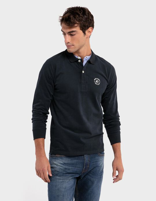 Polo shirt with double collar