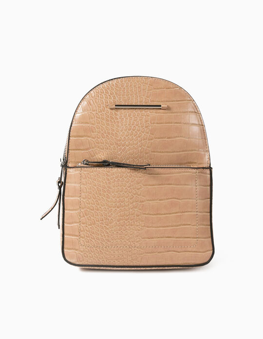 Croc-Effect Backpack, for Women