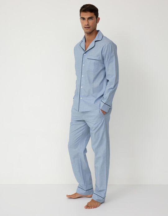 Pijama Camiseiro para Homem, Azul