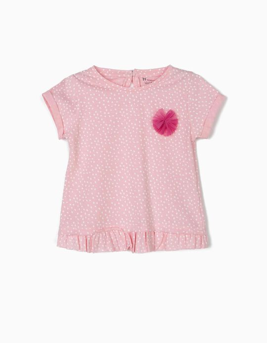 T-shirt for Baby Girls 'Dots', Pink