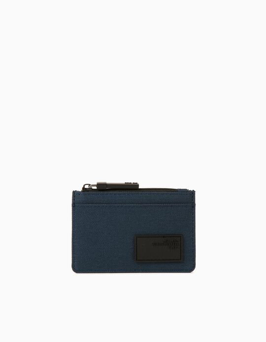 Canvas Cardholder for Men, Blue