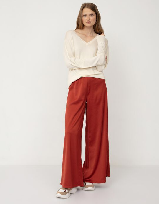 Fluid Trousers, Dark Red
