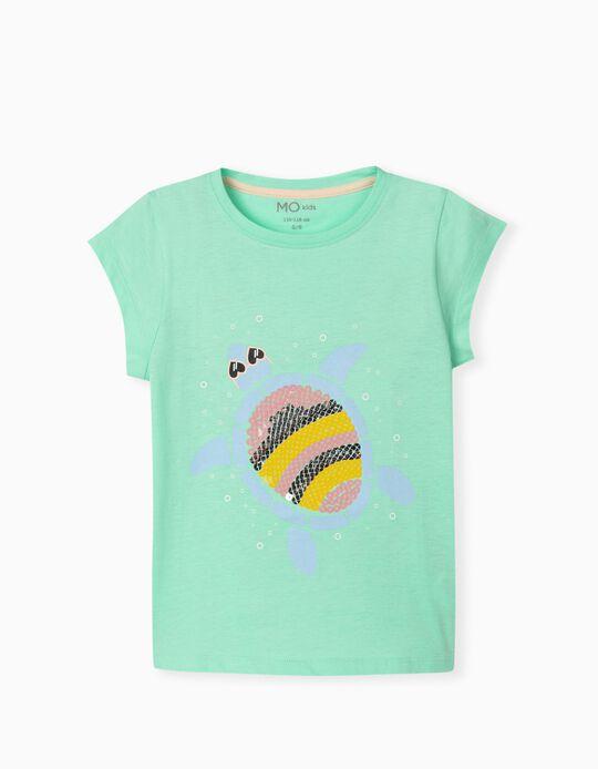 T-shirt Lantejoulas, Menina