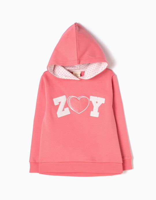 Pink Hooded Sweatshirt, ZY