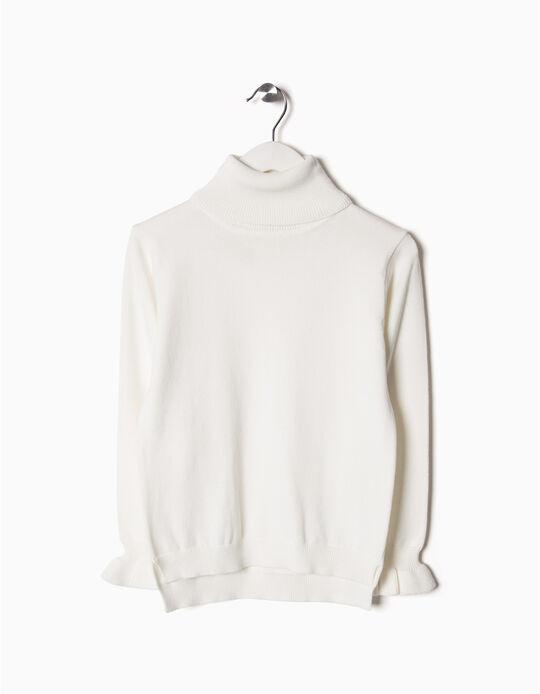 Camisola Gola Alta Branca