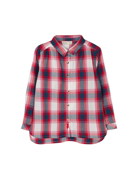 Camisa Xadrez Tartan Vermelha e Azul
