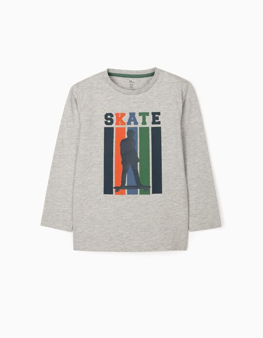 Long Sleeve T-Shirt 'Skate', Grey