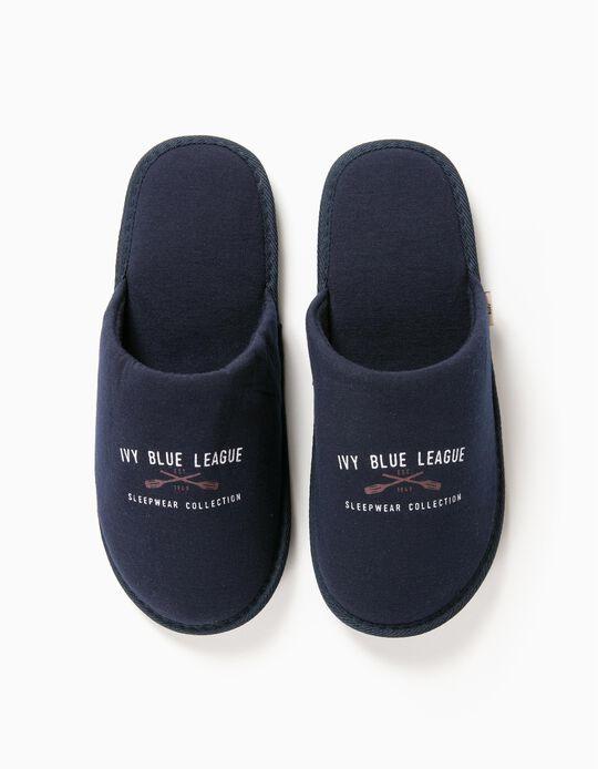 Chinelos De Quarto Ivy Blue League