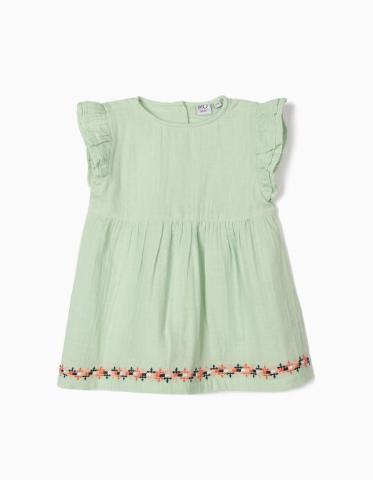 Embroidered Blouse, for Girls