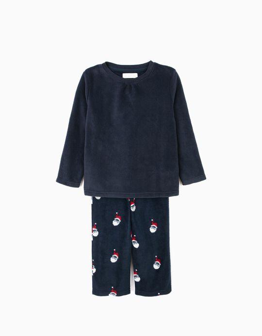 Pijama Polar Manga Comprida e Calças Pai Natal