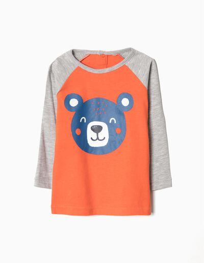 T-shirt manga comprida bear