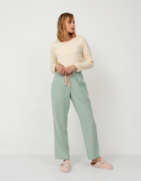 Chequered Pyjama Bottoms, Green