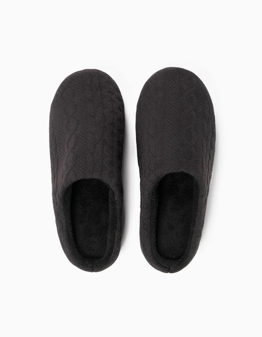 Bedroom slippers with trim