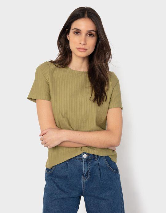 T-shirt Canelada, Mulher, Verde