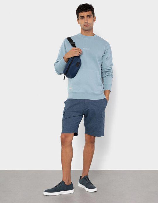 Fleece Shorts for Men, Blue
