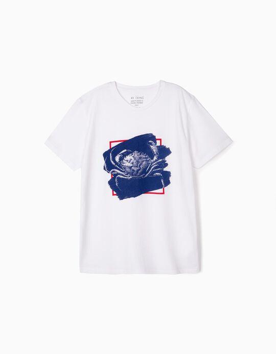 T-shirt estampado Caranguejo