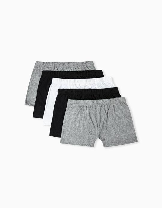 5 Assorted Basic Boxer Shorts, Men