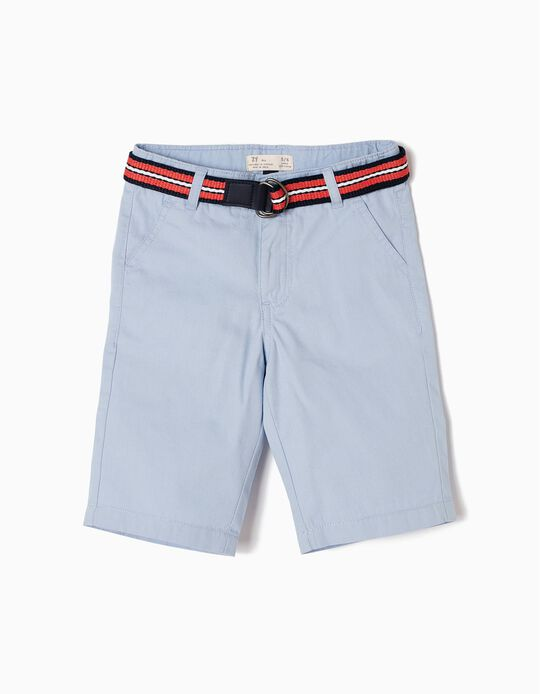 Blue Shorts with Belt