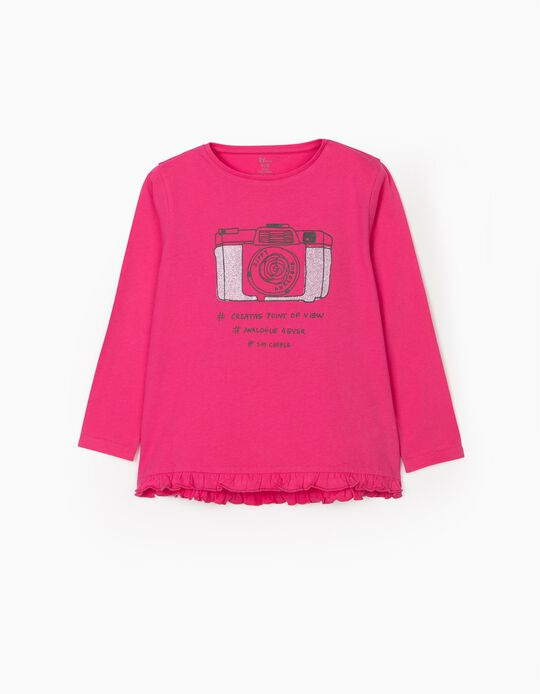 Long Sleeve T-shirt for Girls 'Analogue', Pink