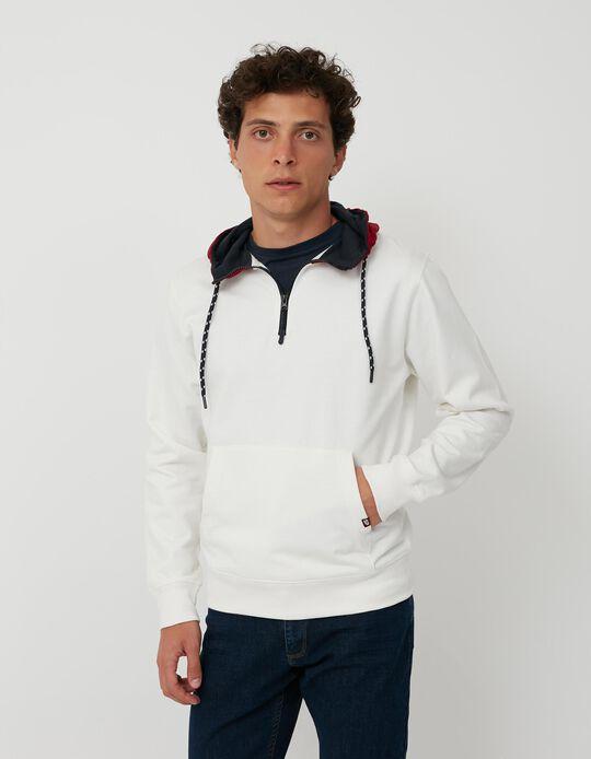 Hooded Sweatshirt, Men, White