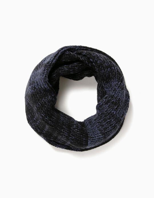 Gola tricotada bicolor