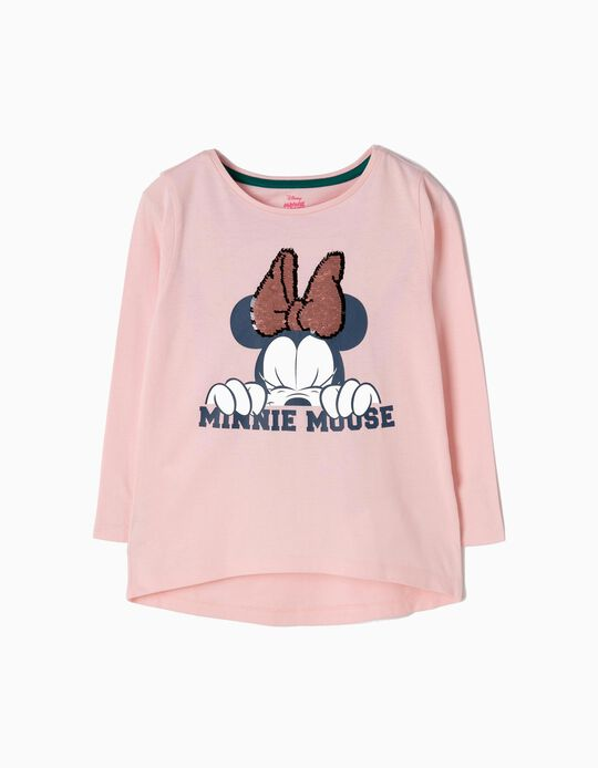 T-shirt Manga Comprida Minnie Mouse