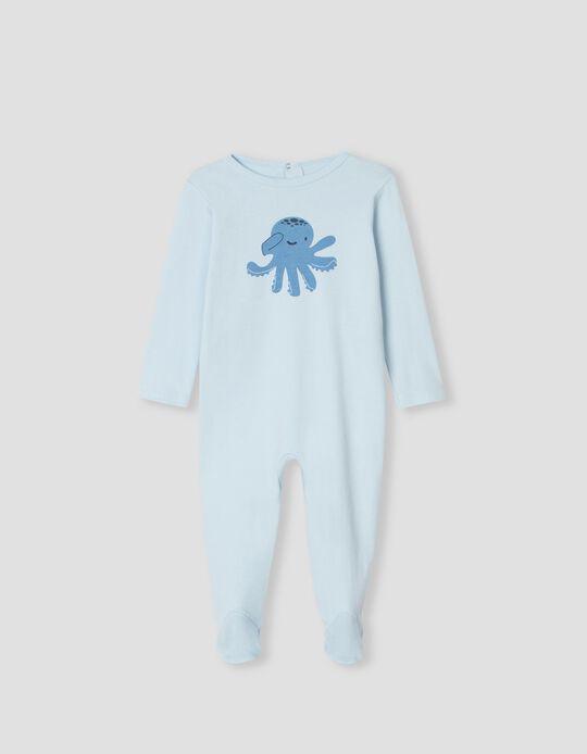 Babygrow de Algodão, Bebé, Azul