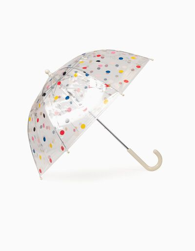 Guarda-Chuva Transparente Bolinhas